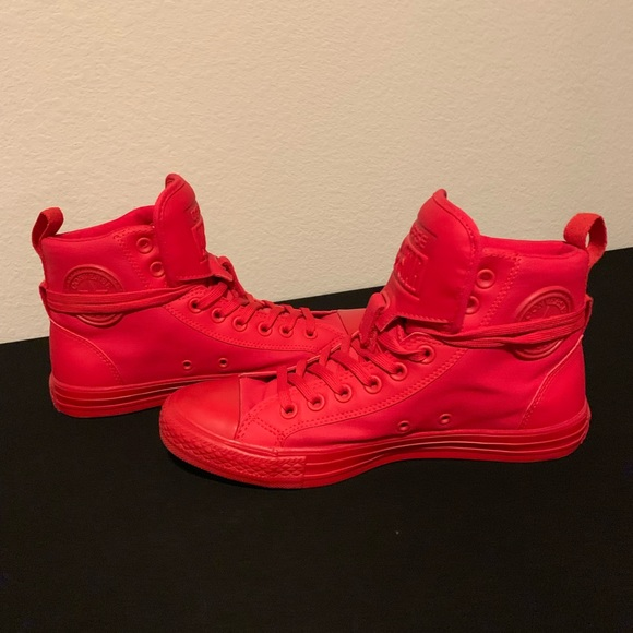 Converse Shoes | Solid Red High Top